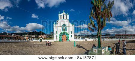 People Gathering around local Church at San Juan Chamula.