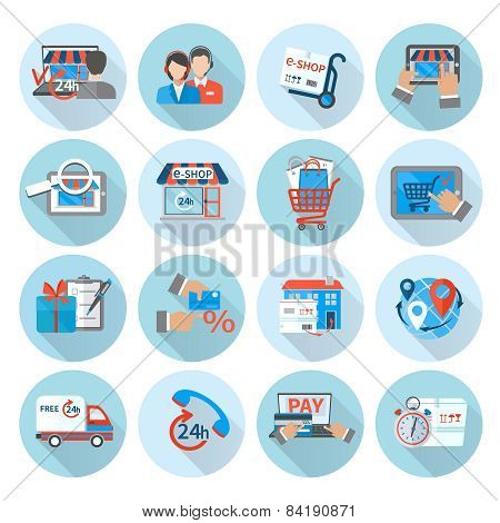 Shopping E-commerce Icon Flat