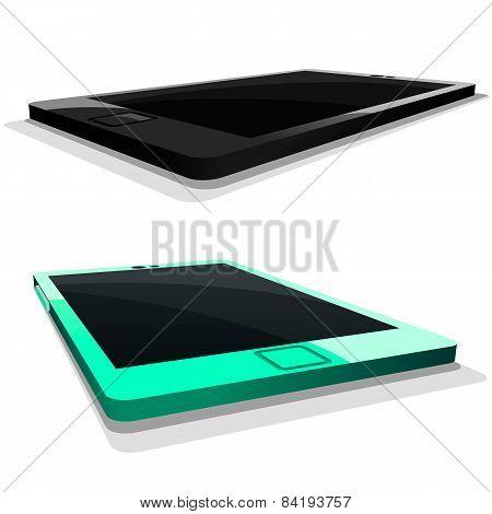 Tablet mobile phone in vector illustration