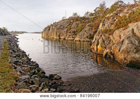 Norwegian Creek In Countryside