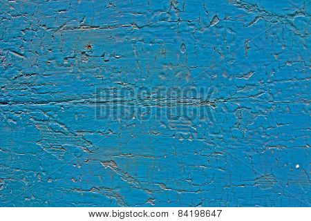 Turquoise Blue Cracked Paint
