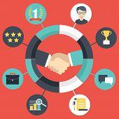Concept of customer Relationship Management - vector illustration poster
