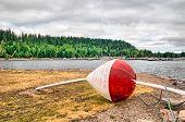 Big float on Vesijarvi Lake (Water Lake). Lahti. Finland poster
