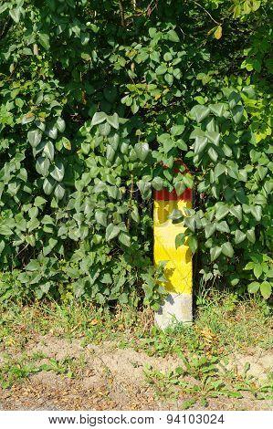 Milestone In A Bush