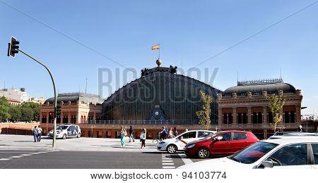 Atocha Railway Station In Madrid