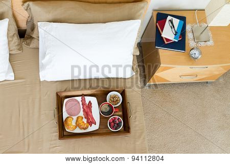 Breakfast In Bed With Reading Books
