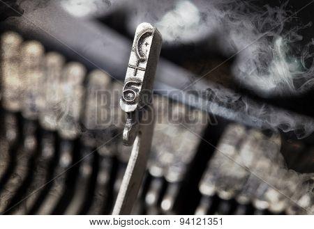 6 Hammer - Old Manual Typewriter - Mystery Smoke