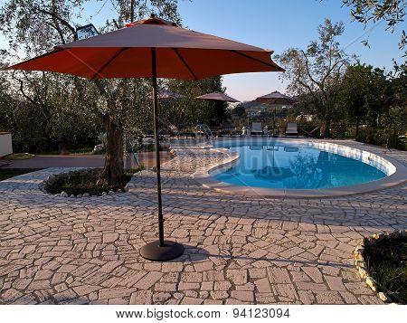 Modern Backyard With Swimming Pool