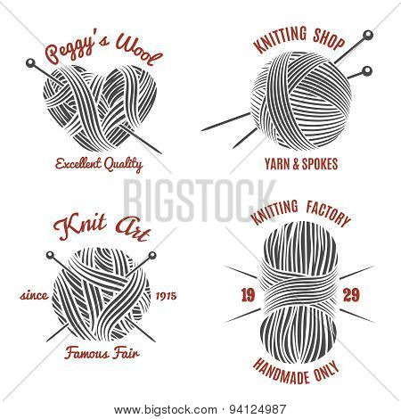 Knitting labels and knitwear logo