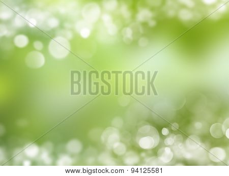 Green leaf reflecting in river water, closeup.