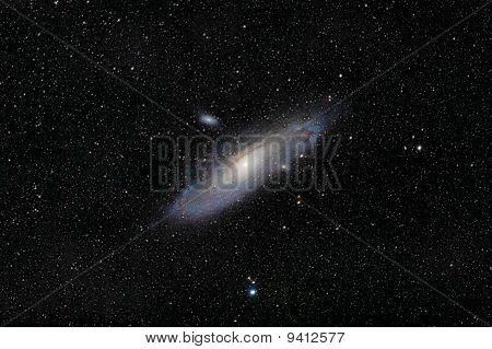 Andromeda And Companion Galaxies