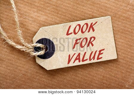Look For Value