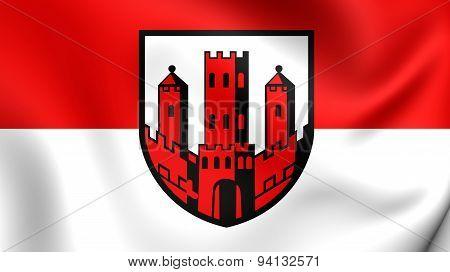 Flag Of The Dinslaken, Germany.