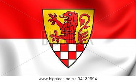 Flag Of The Unna Kreis, Germany.
