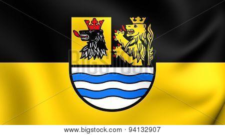Flag Of The Neuburg-schrobenhausen, Germany.