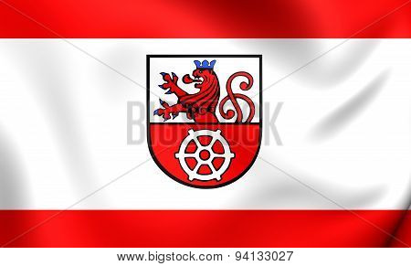 Flag Of The Ratingen, Germany.