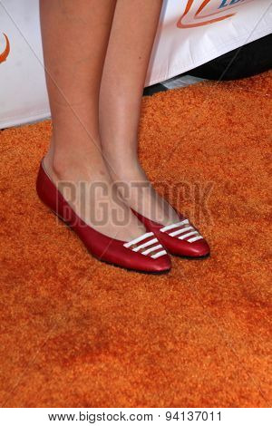 LOS ANGELES - JUN 6:  Ahna O'Reilly (shoe detail) at the Lupus LA Orange Ball  at the Fox Studios on June 6, 2015 in Century City, CA