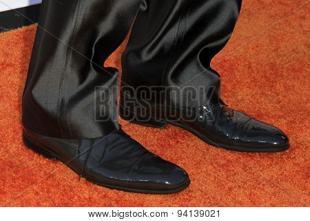 LOS ANGELES - JUN 6:  Sylvester Stallone (shoe detail) at the Lupus LA Orange Ball  at the Fox Studios on June 6, 2015 in Century City, CA