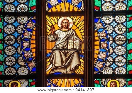 Prague Saint Vitus Religious Vitrage Windows