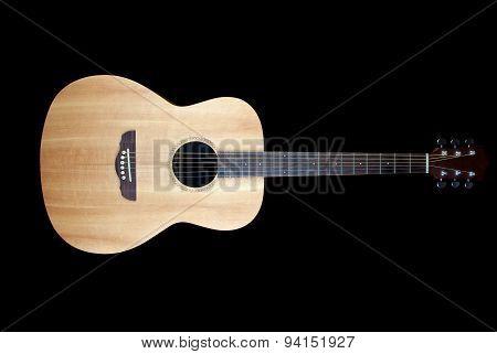 Acoustic Guitar On Black Background