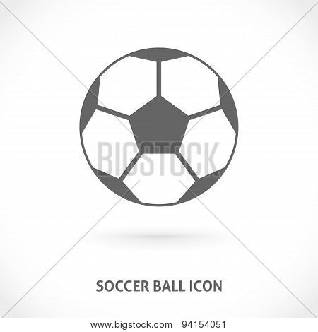 Soccer ball symmetry centered icon