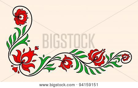 Traditional Hungarian Floral Motif