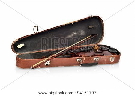 Antique Fiddle-case And Violin