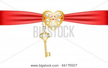 lock shapped heart