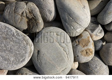 Pebbly Rocky Beach Background