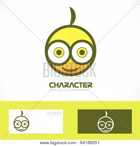 Funny face logo