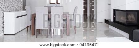 Panoramic Photo Of Living Room
