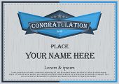 congratulation frame Vintage retro background design template poster
