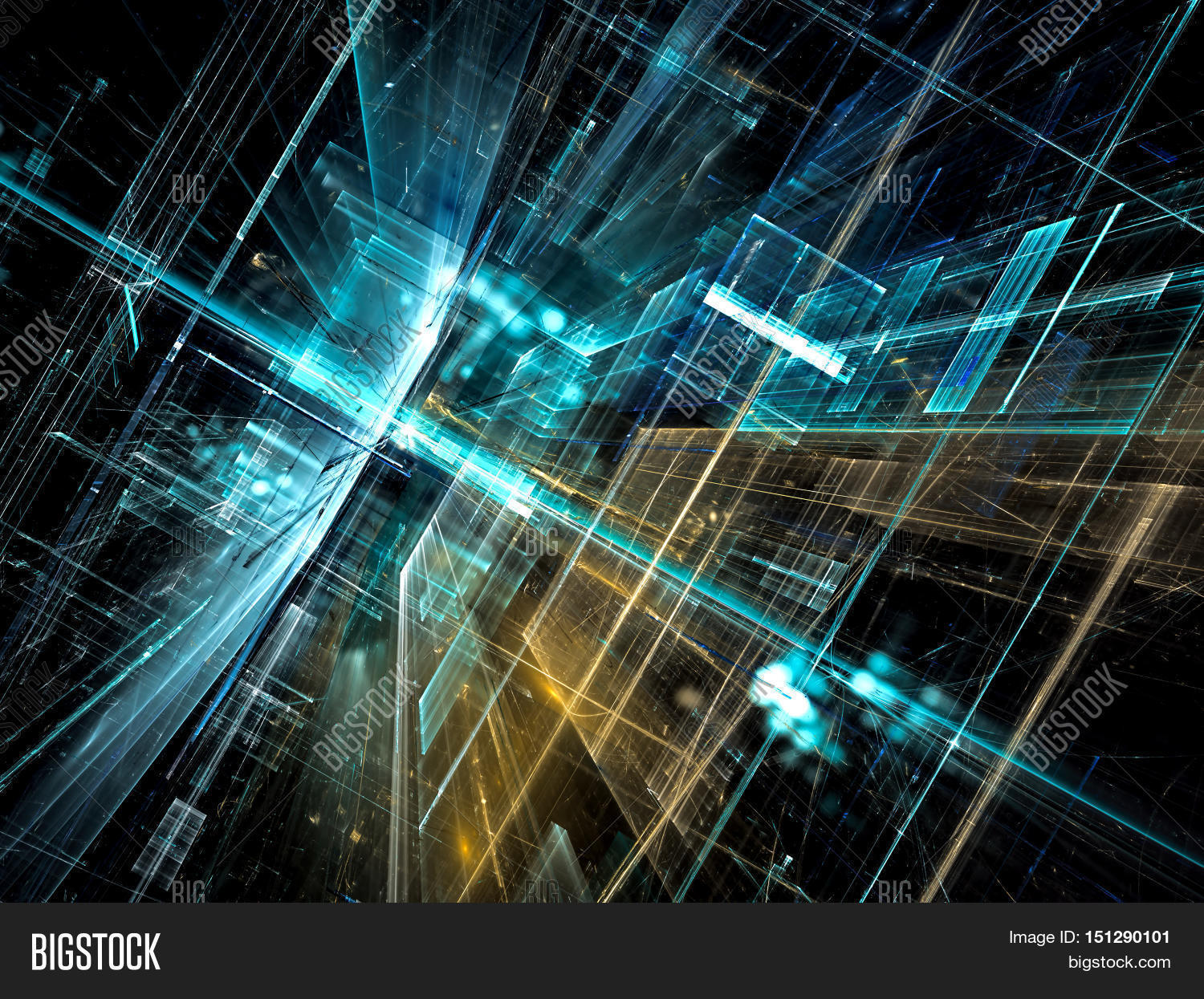 Abstract Technology Background With Light Effect: Abstract Future Image & Photo (Free Trial)