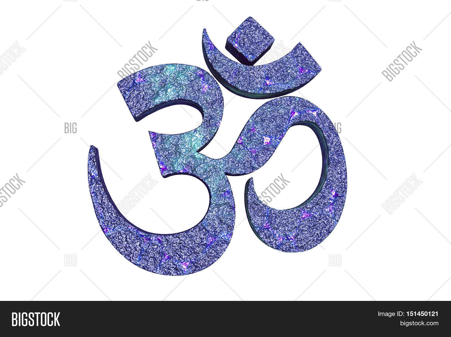Hindu Word Reading Om Image Photo Free Trial Bigstock