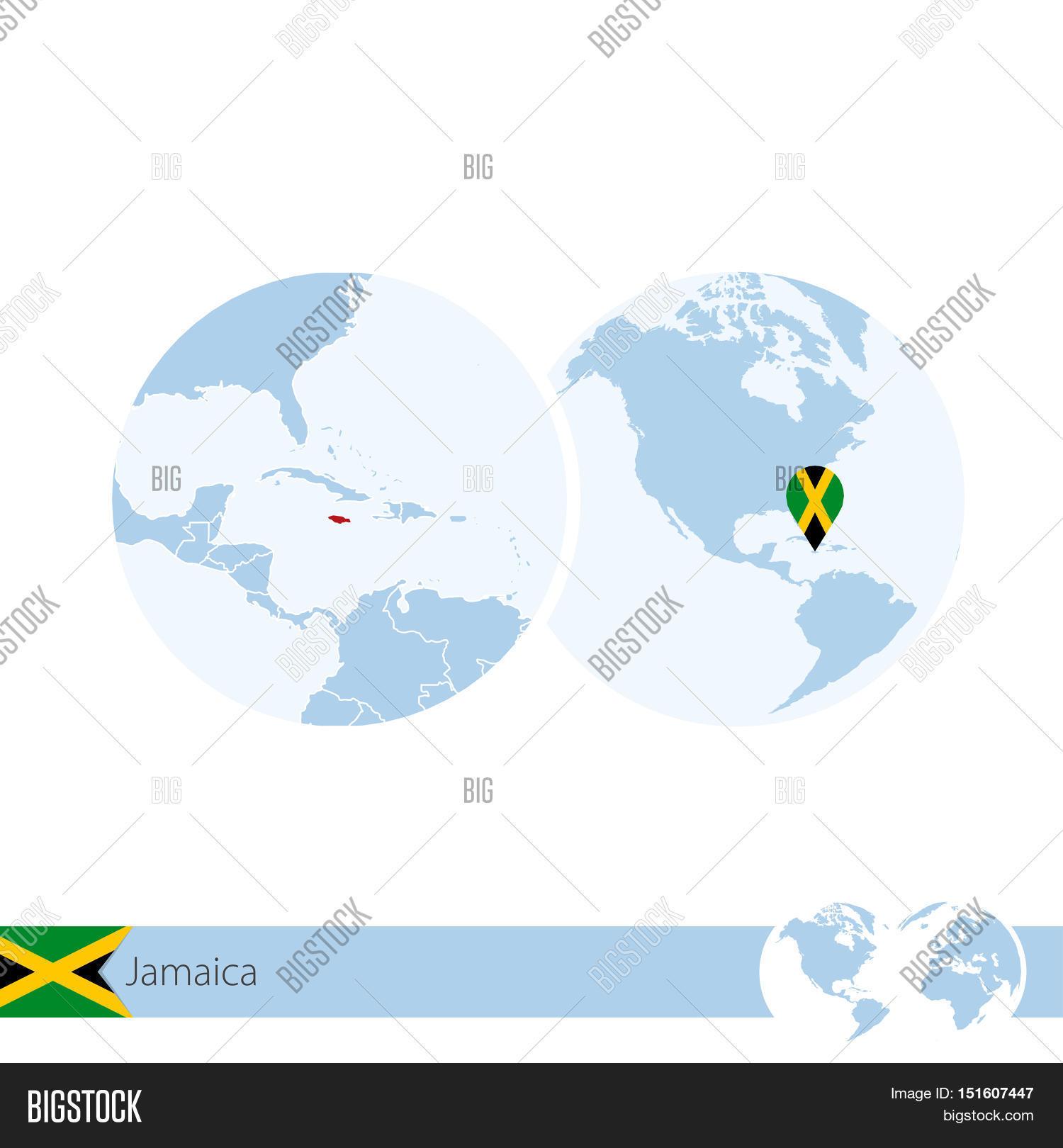 Jamaica On World Vector & Photo (Free Trial) | Bigstock