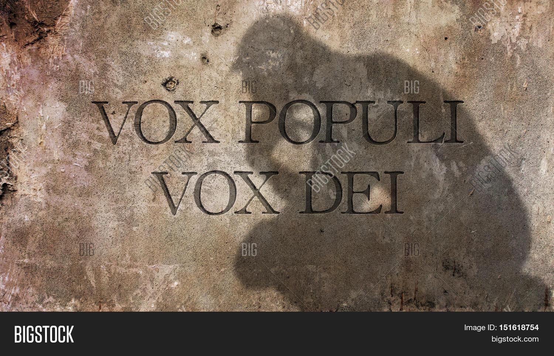 Vox Populi Vox Dei Image Photo Free Trial Bigstock