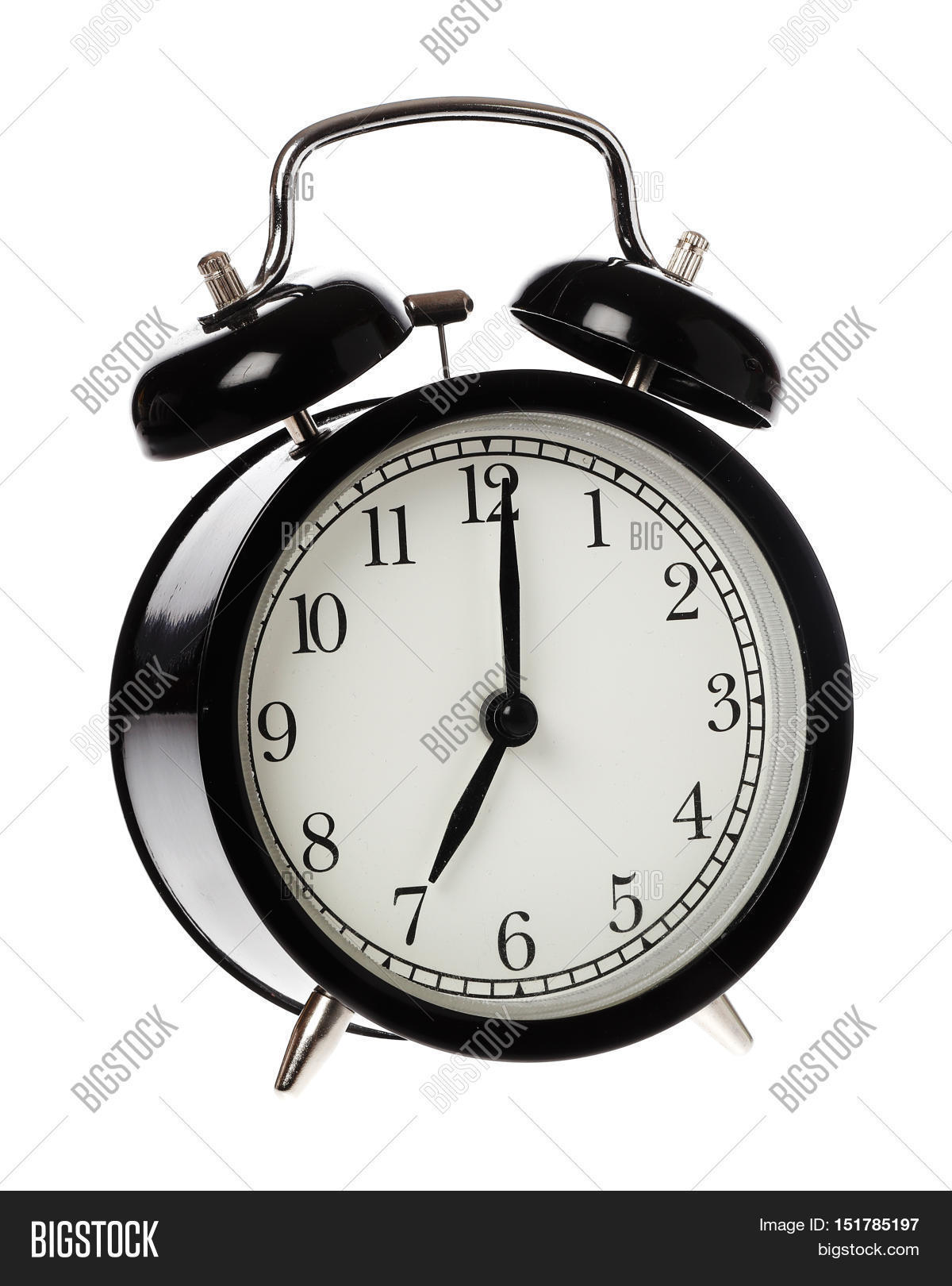 One Black Alaram Clock Image & Photo (Free Trial) | Bigstock