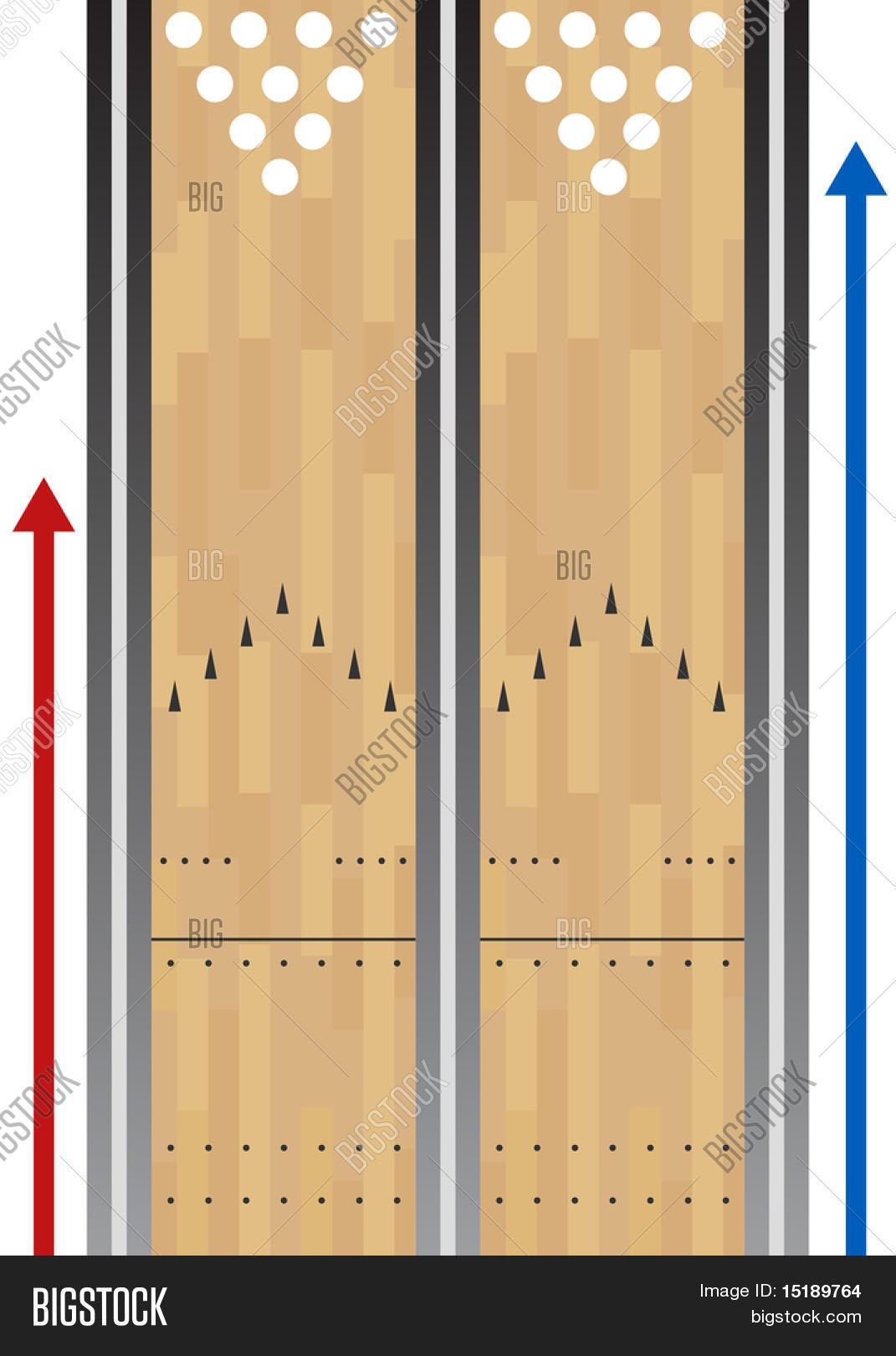 graphic relating to Printable Bowling Lane Diagram identify Bowling Lane Chart Vector Image (Absolutely free Demo) Bigstock