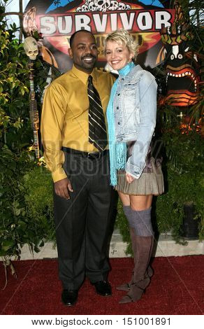 Rory Freeman and Mia Galeotalanza at the finale for 'Survivor Vanuatu Islands of Fire' held at the CBS Television City in Hollywood, USA on December 12, 2004.