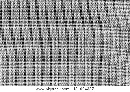corrugated texture of rough fabric of gray color with an interlacing of threads for a woven background and for wallpaper