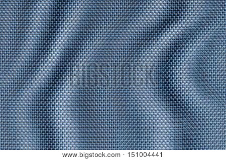 corrugated texture of rough fabric of blue color with an interlacing of threads for a woven background and for wallpaper