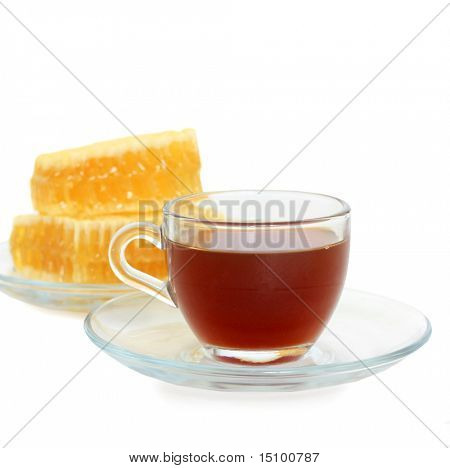 a cup of tea with honey