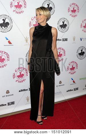 LOS ANGELES - OCT 8:  Sharon Stone at the 2016 Carousel Of Hope Ball at the Beverly Hilton Hotel on October 8, 2016 in Beverly Hills, CA