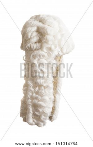 Judge wig isolated on a white background
