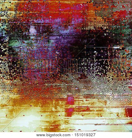 Elegant vintage background, antique texture. Designed grunge template with different color patterns: yellow (beige); green; red (orange); purple (violet); black; pink