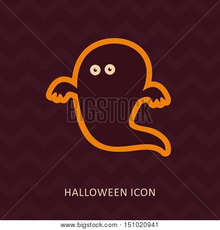 Halloween Ghost vector silhouette icon eps 10