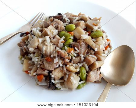 Baked rice with Taro which main courses of chinese style