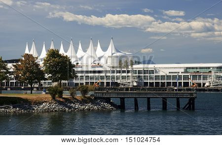 Canada Place in center of Vancouwer (British Columbia, Canada)