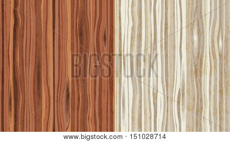 Wood grain textured background. Seamless pattern. Vector illustration in two color palettes