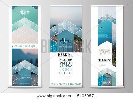 Set Roll Banner Vector & Photo (Free Trial) | Bigstock